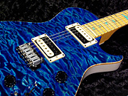 Private Stock #1395 Singlecut PIEZO Trem  - Ocean Turquoise Quilt with White Blonde Ash back -