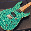 David Thomas McNaught DTM Exotic Wood Collection DJ+ Diamondo Grade Quilt Maple White Limba Korina Ocean Turquoise