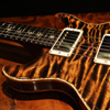 PRS PS#7304 SantanaII 1P Quilt Top & Back  with Green Heart Abalone Purfling - Bronze -