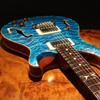 PRS Private Stock Hollowbody II with Piezo 1P Quilted Maple Top & Back - Faded Aquamarine - Kissing Hummingbird inlay