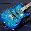 T's Guitars TL-Hollow Deluxe Rosewood Neck - Atlantic Blue Breeze -