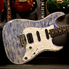 T's Guitars DST Classic 22 Roasted Flame Maple Neck - Trans Blue Denim -