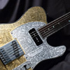 IHush Guitars Tele Dragon Figured - Gold / Black & Gold Grain - 【B.U.G.オリジナルオーダー品】